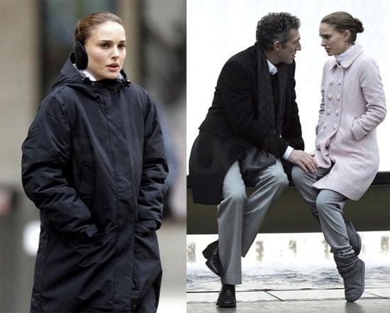 Photos of Natalie Portman Filming Black Swan in NYC 2009-12-07 15:39:45