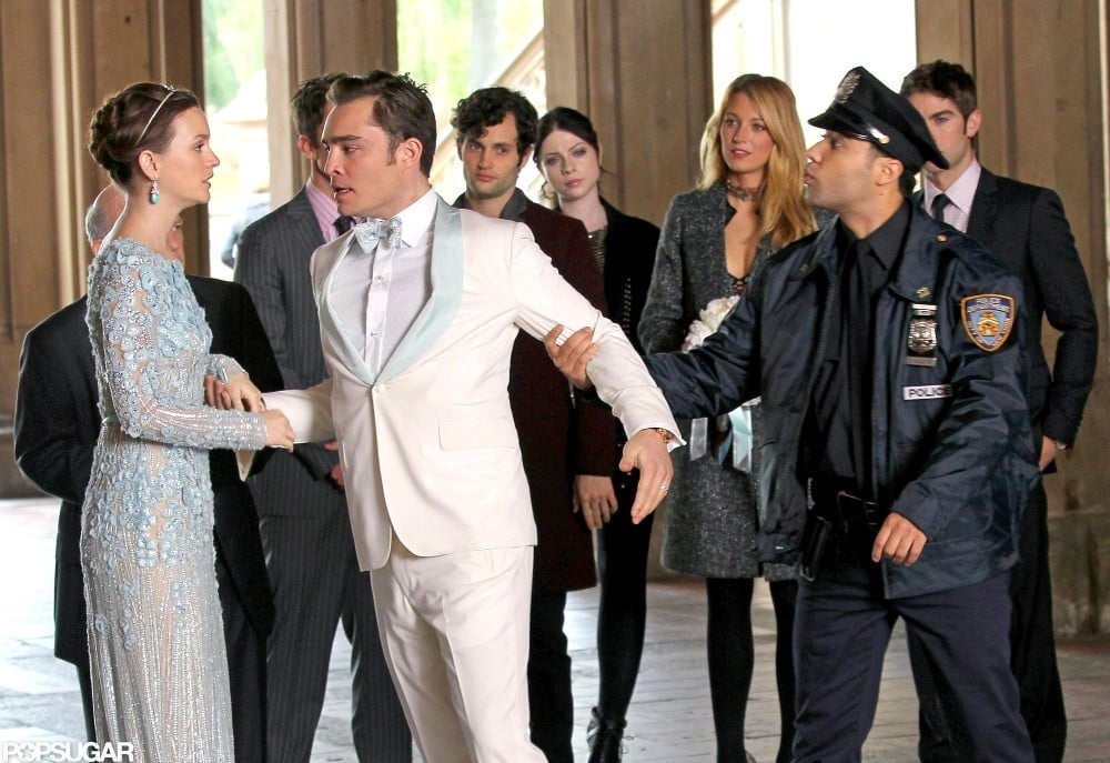 Chuck and Blair Gossip Girl Wedding POPSUGAR Celebrity