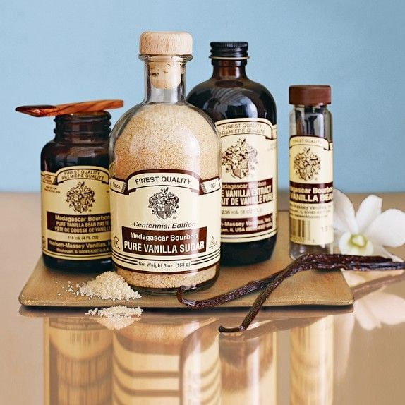 Classic packaging gives these gourmet Nielsen-Massey vanilla products ($10-$20) an old-school look.