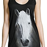 Norma Kamali Horse Scoop-Neck Jersey Tank ($89)