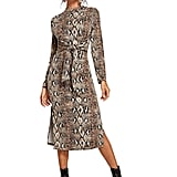Floerns Snakeskin Midi Dress