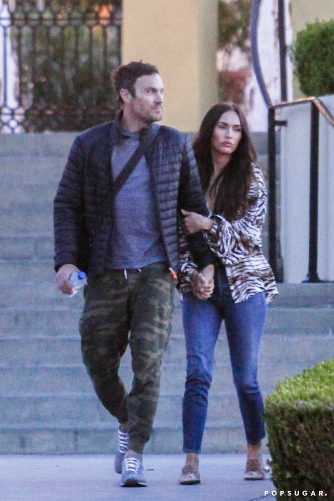 Megan Fox Cuddles Up to Brian Austin Green During a Romantic LA Date Night