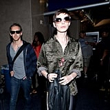 Anne Hathaway and Adam Shulman Happily Head West Together