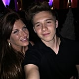 Brooklyn snapped a picture with his aunt Joanne.