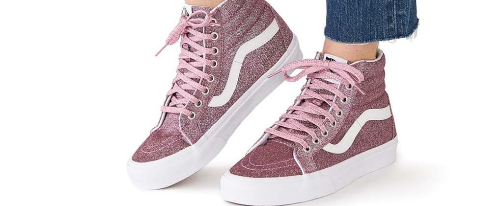Pink Glitter Vans Sneakers