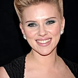 Scarlett Johansson sported a retro hair style in NYC.