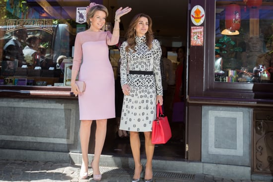 Queen Rania's Red Louis Vuitton Bag