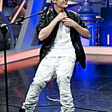 Justin Bieber gave the audience a show on El Hormiguero.