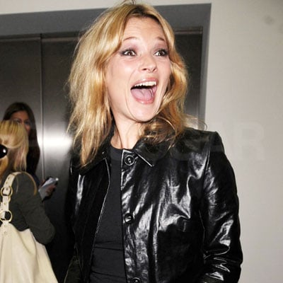 Kate Moss Flashes a Really Huge Grin at an Art Opening in London 2008-05-29 23:39:10