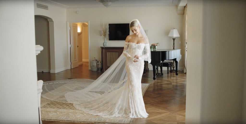 Hailey Baldwin's Off-White Virgil Abloh Wedding Dress