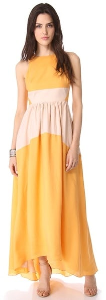 This Tibi coloblocked maxi dress ($675) might just be the perfect special-occasion dress to get you through wedding season and your Spring cocktail parties.