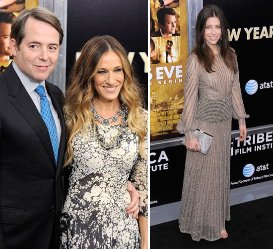 Celebrities at New Year's Eve New York Premiere: Sarah Jessica Parker, Jessica Biel and More