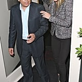 Gwyneth Paltrow ate out with a businessman at La Petit Maison in London.