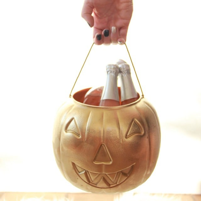 Gold Pumpkin Bucket