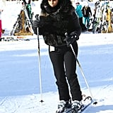 Kim Kardashian sported her ski gear for a day on the slopes.