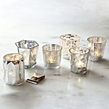I'm always looking for new candleholders for my votives, and these West Elm mercury candleholders ($5 each) are just what I have in mind. — Annie Scudder, editor