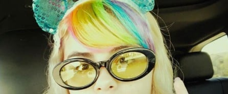 Selena Gomez Tricked Us Into Thinking She Got Rainbow Bangs, and It Was the Best Day Ever