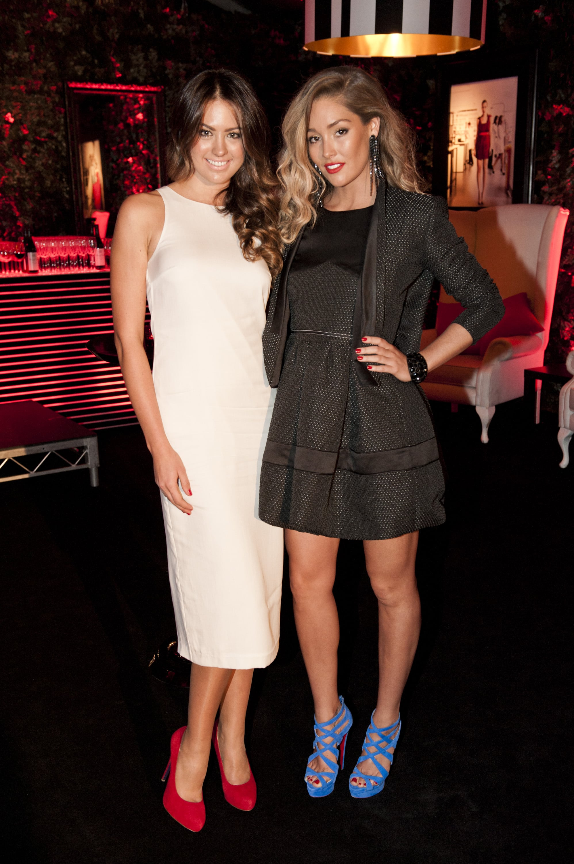 Jesinta Campbell and Erin McNaught