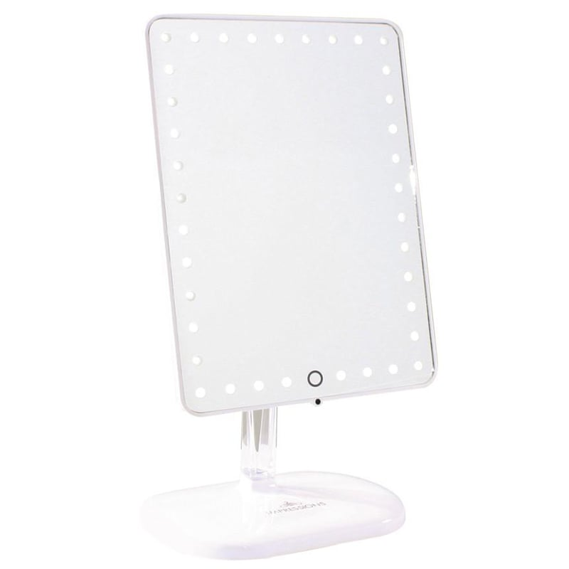 Impressions Vanity Touch Pro LED Makeup Mirror With Bluetooth Audio+Speakerphone & USB Charger