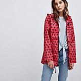 Brave Soul Rave Rain Trench in Polka Dot