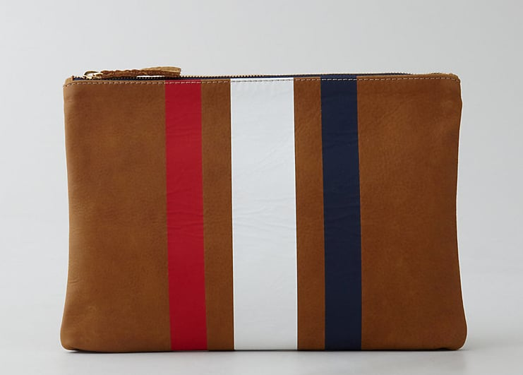 Clare Vivier's three-stripe flat clutch ($184) is simple, classic, and reminds us of something we'd wear on a dreamy trip to Paris.