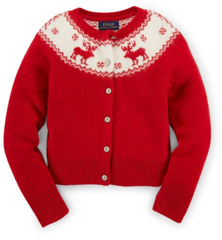 Ralph Lauren Reindeer Wool-Blend Sweater
