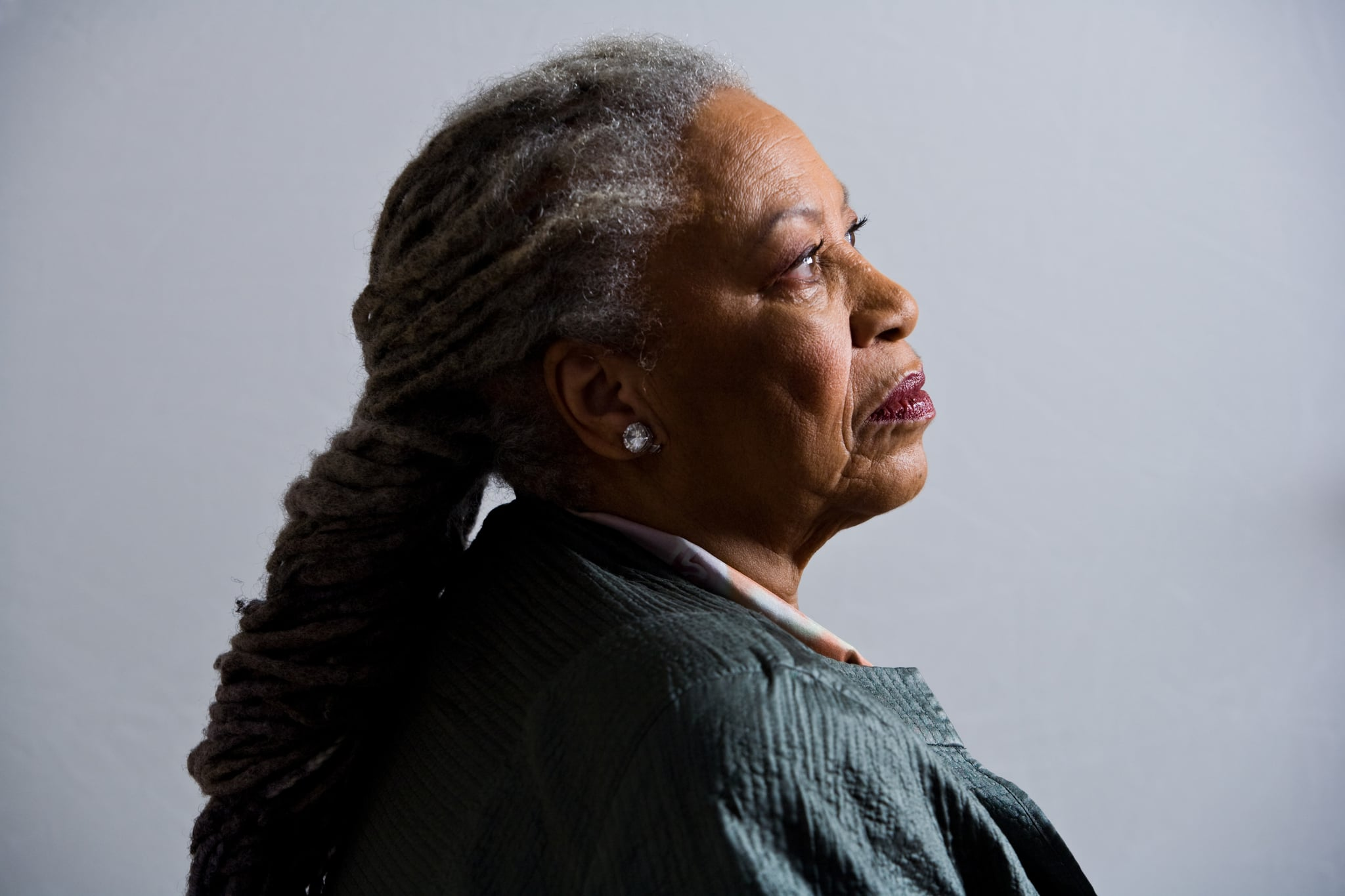 Pulitzer prize winning author, Toni Morrison, 77, is photographed in her New York apartment .Toni Morrison, in her New York apartment. (Photo by Timothy Fadek/Corbis via Getty Images)