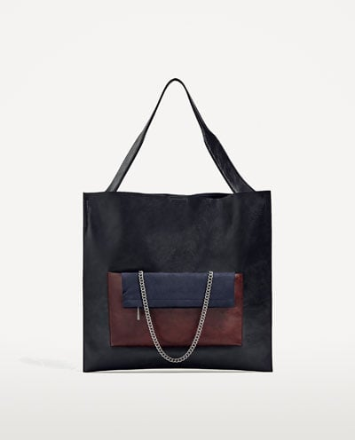 You get two bags for the price of one. Zara Multi-Functional Tote With Pocket ($50)