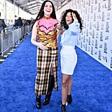 Hari Nef and Taylor Russell at the 2020 Spirit Awards