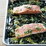 Whole30 Salmon With Crispy Cabbage and Kale
