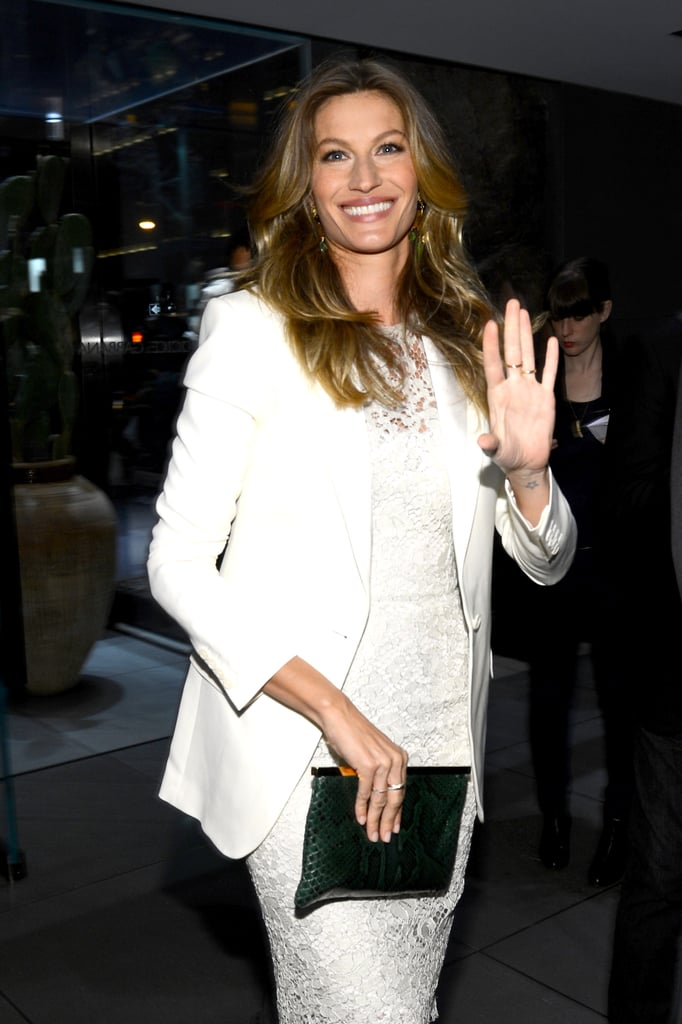 Gisele Bündchen glowed at the Dolce & Gabbana store opening on Fifth Avenue in NYC.
