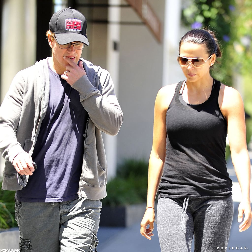 Matt and Luciana Damon went to Pilates.