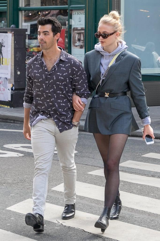 Sophie Turner in a Belted Blazer in 2018
