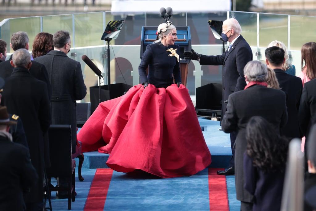 Lady Gaga Wore Custom Schiaparelli on Inauguration Day