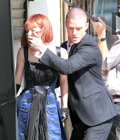 Pictures of Justin Timberlake on the Set of I'm Mortal in LA