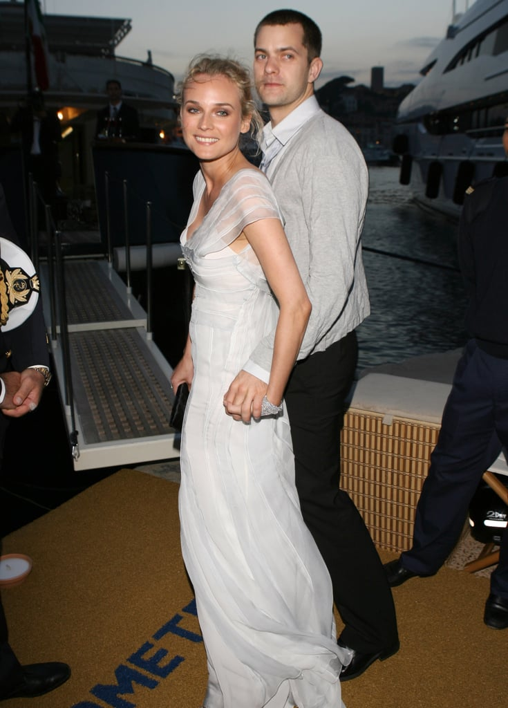 Diane Kruger and Joshua Jackson were on a yacht for a party during the Cannes Film Festival in May 2007.