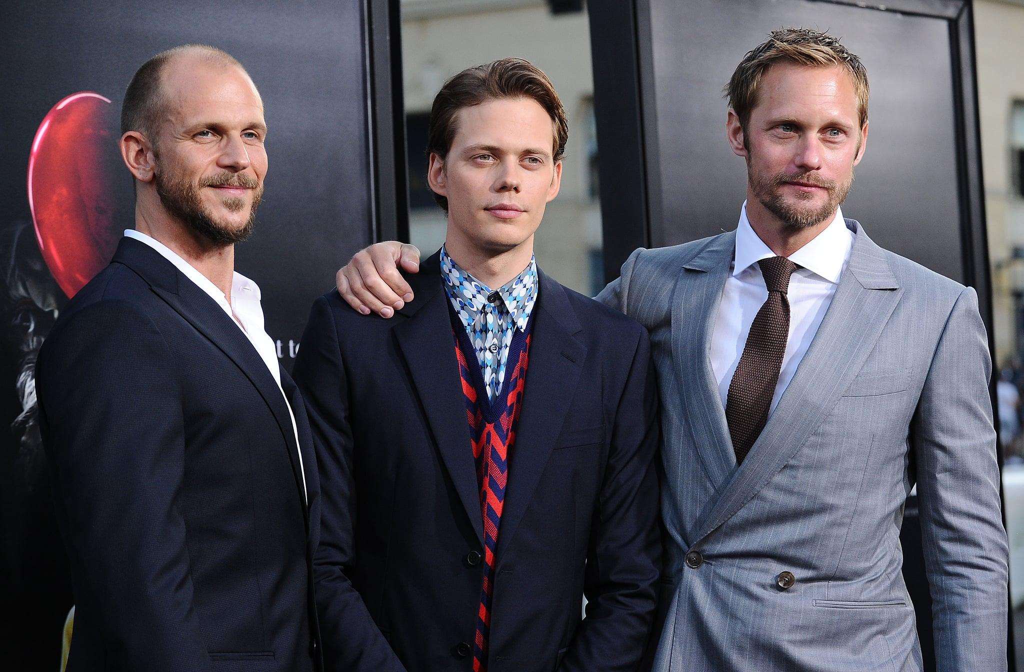 HOLLYWOOD, CA - SEPTEMBER 05:  (L-R) Actors Gustaf Skarsgard, Bill Skarsgard and Alexander Skarsgard attend the premiere of