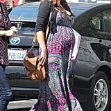 Lindsay Price wore a colorful maxi dress to her lunch date.