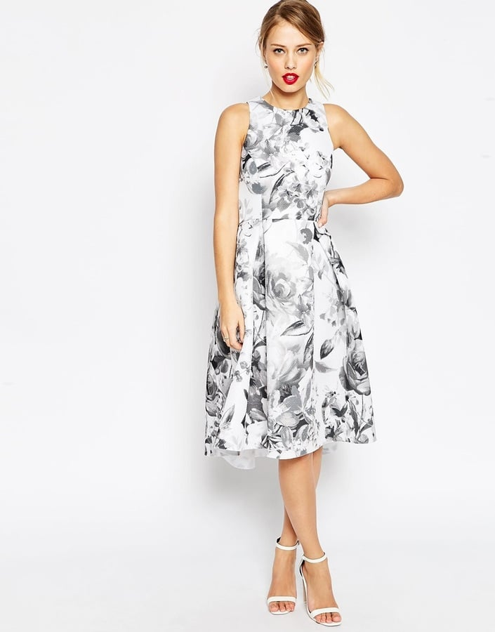 wedding dress guest asos asos premium mono floral full prom dress 55