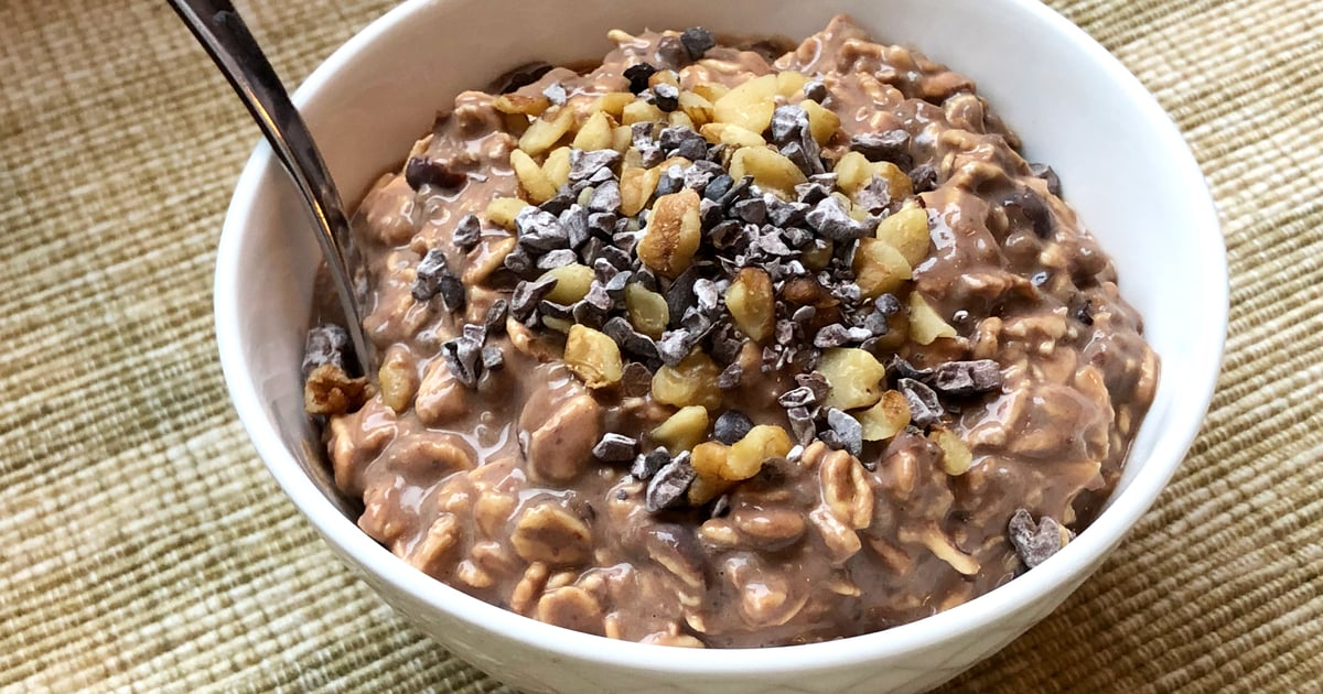 This Chocolate Walnut Brownie Overnight Oats Offers 17 Grams of Protein (No Protein Powder!)