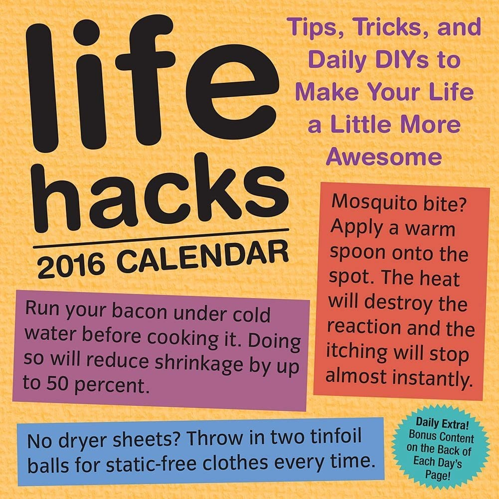 Life Hacks 2016 Day-to-Day Calendar ($15)