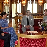 Prince Harry and Meghan Markle Meeting the King of Morocco