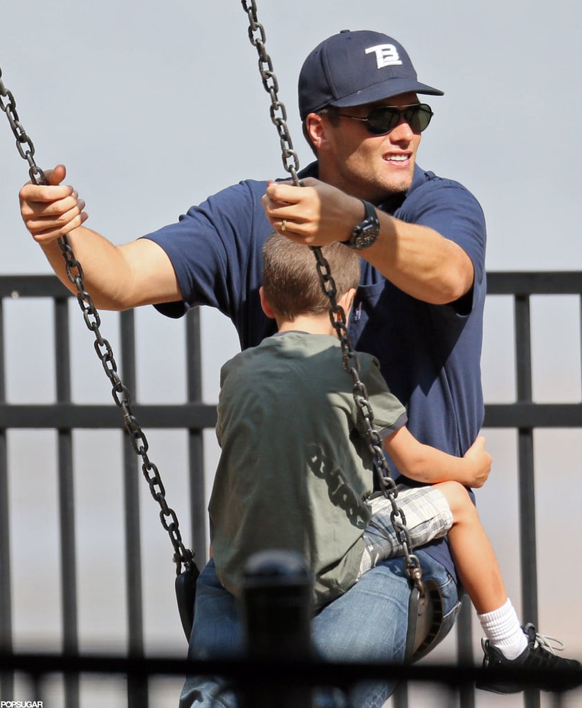 Jack Moynahan joined Tom Brady on the swings.