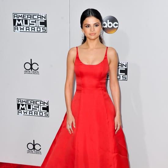 Selena Gomez Red Bridal Shower Dress January 2019