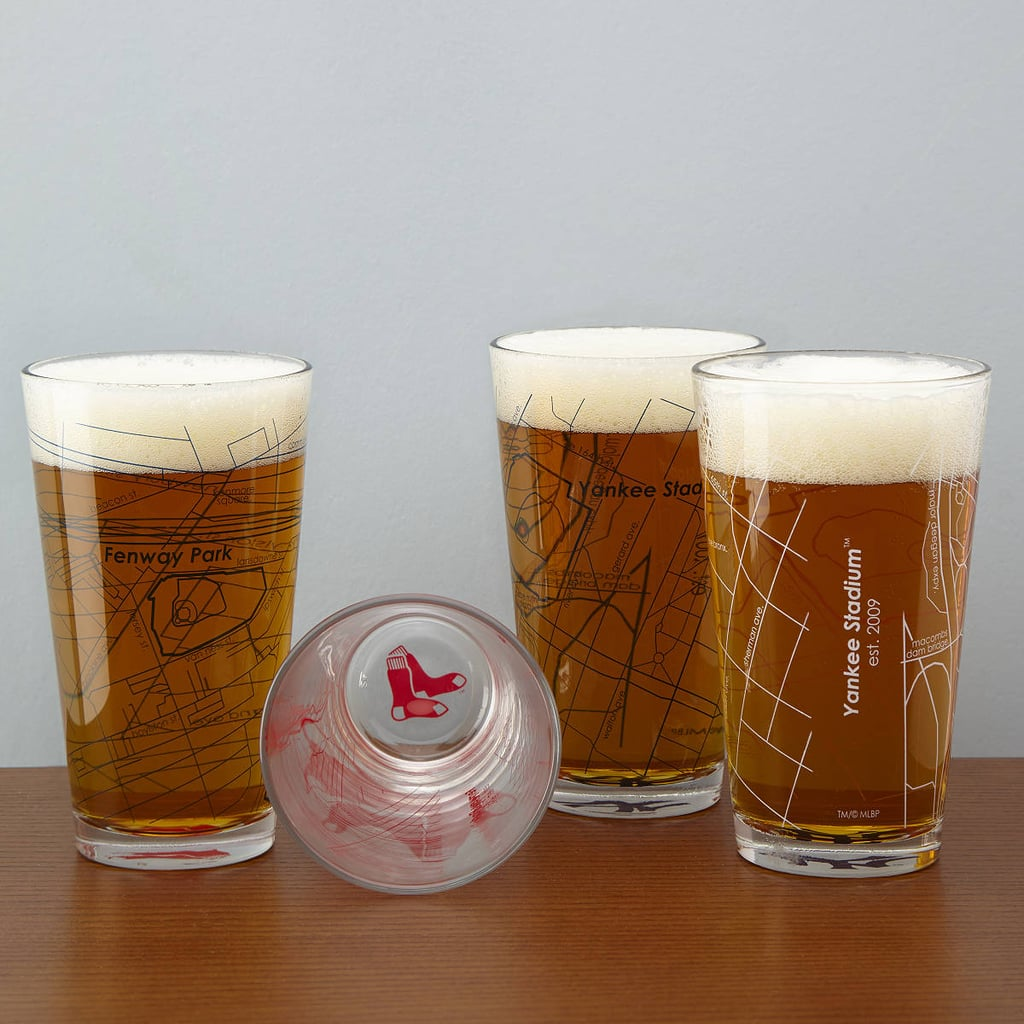 Baseball Park Map Pint Glasses