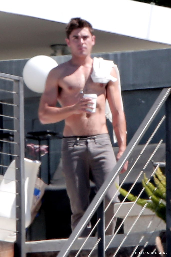 Zac Efron Shirtless on We Are Your Friends Set   Photos