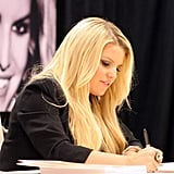 Jessica Simpson signed autographs for fans in New Orleans.