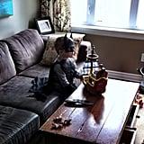 """My best friend's son, watching old school Ninja Turtles and just being 5."" Source: Reddit user curious_void via Imgur"
