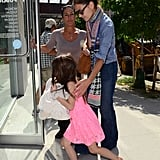 Katie Holmes and Suri Cruise were together the day of Katie and Tom Cruise's divorce settlement.