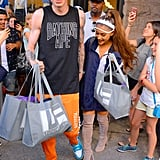 The duo held hands while doing some shopping in NYC in June.